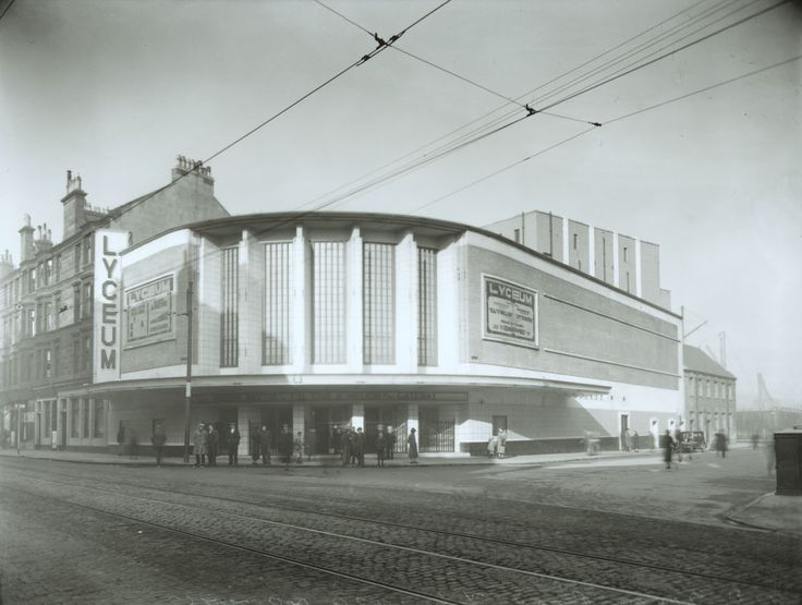 "The original Lyceum in Govan was a music hall, converted to ""Govan's Super Cinema"" in 1923, and destroyed by fire in 1937. With a capacity of 2,600, which opened in 1938, the Lyceum survived the onset of bingo until 1974, although films continued to be shown in what was claimed to be Glasgow's first cine-bingo complex until 1981. Govan's last cinema continues as a bingo hall today. - TheGlasgowStory"
