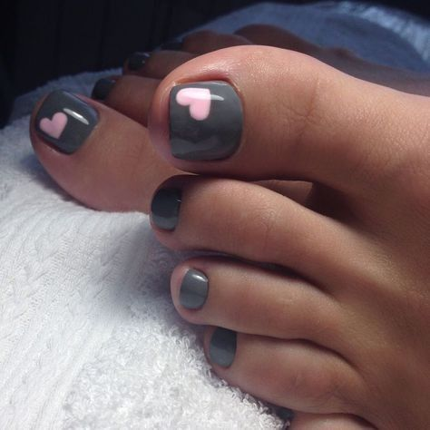 Charcoal with pink hearts