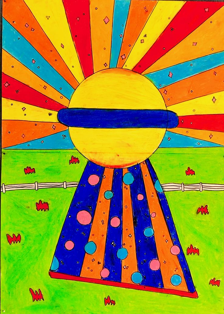 Inspired by Peter Max my year 5 class created a