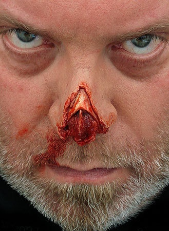 nose prosthetic horror fx effects makeup special effects makeup artistry