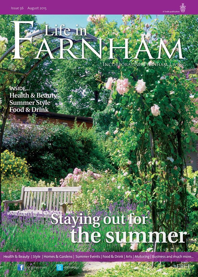 Staying out for the summer ~ Farnham's Victoria Garden during high summer. Photo by Farnham Town Clerk Iain Lynch. #locallife #Farnham #Surrey #summer #frontcover #photography
