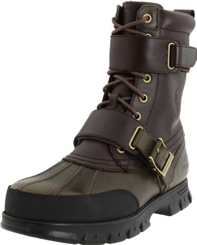 Polo Ralph Lauren Men`s Varick Hiking Boot,Dark Brown/Olive,15 D US