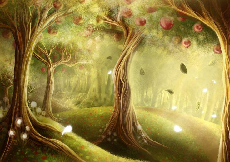 The Always Apple Forest  illustration by: Evan Raditya Pratomo  www.papercaptain.com