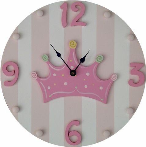 Princess Crown Wall Clock and decor at Jack and Jill Boutique