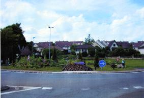 Rond-point a Héricourt (70)