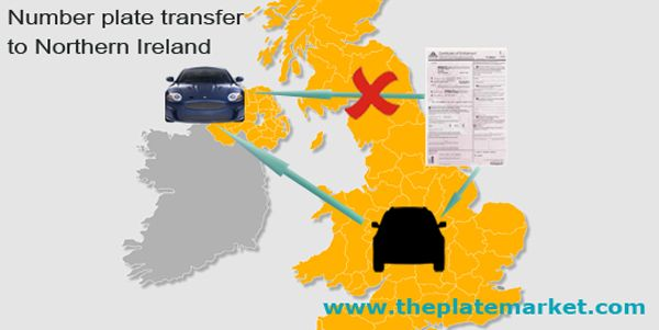 Private number plate transfer to Northern Ireland car http://www.theplatemarket.com/personalised-number-plates-blog/wp-content/uploads/2013/01/number-plate-transfer-to-Northern-Ireland-NI.jpg