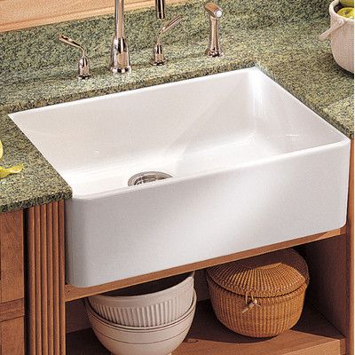 """Franke Manor House 19.69"""" outside side to side length x outside front to back 15.75"""" - interior depth 5-7/8"""" outside depth 6-3/4 Fireclay Apron Front Kitchen Sink 
