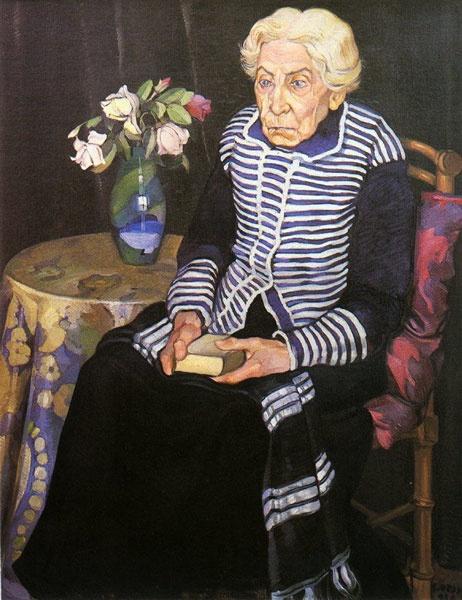 Stanis Dessy, Zia Remondica, 1928 olio su tela - Altro artista che adoro e apprezzo.