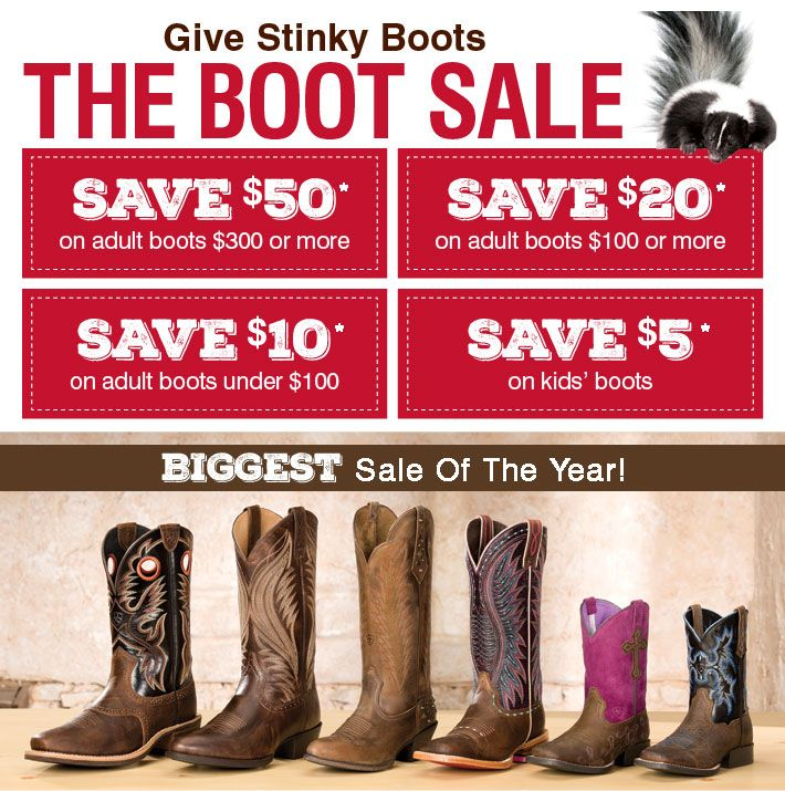 GIVE STINKY BOOTS, THE BOOT SALE - Shop Men's Boots »