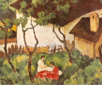 The Garden in Văleni - Nicolae Tonitza, Post -Impressionism