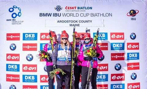 Czech girls on the podium  <3  #ceskybiatlon