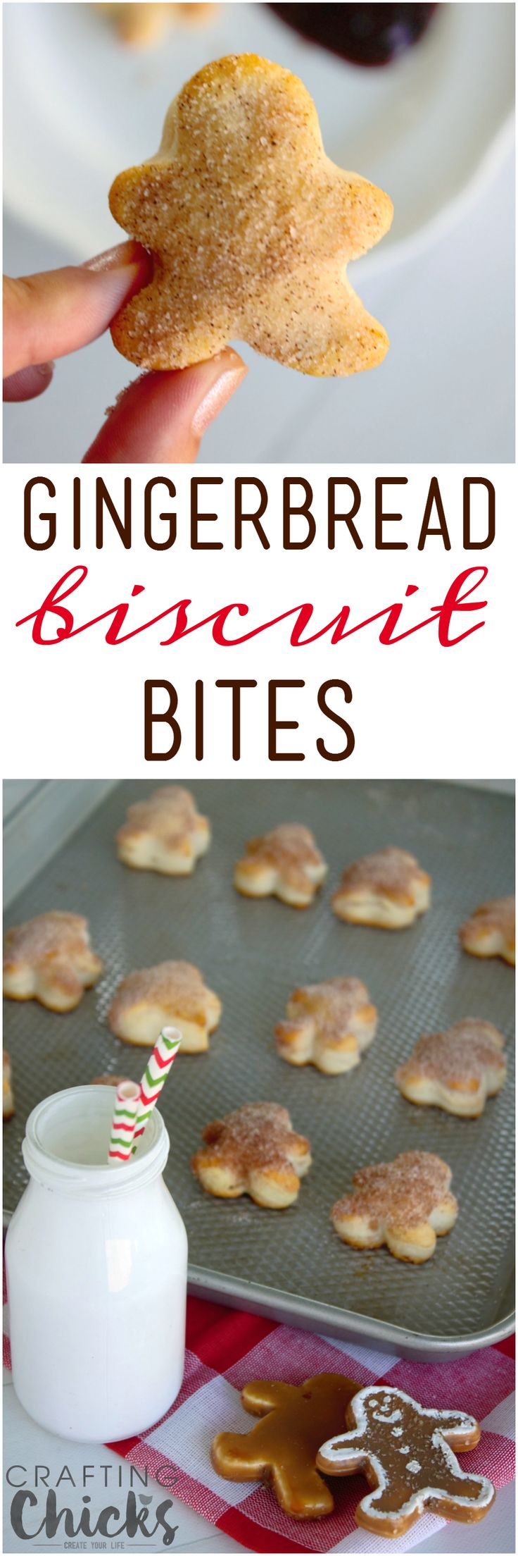 Gingerbread Biscuit Bites are an easy, delicious sweet treat for your holiday breakfasts!