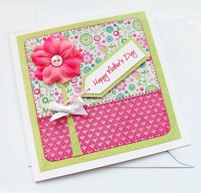 Handmade Mother's Day Card - Ever After Designs