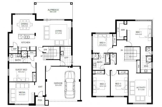 2 Storey 5 Bedroom House Plans Plan maison, Amenagement