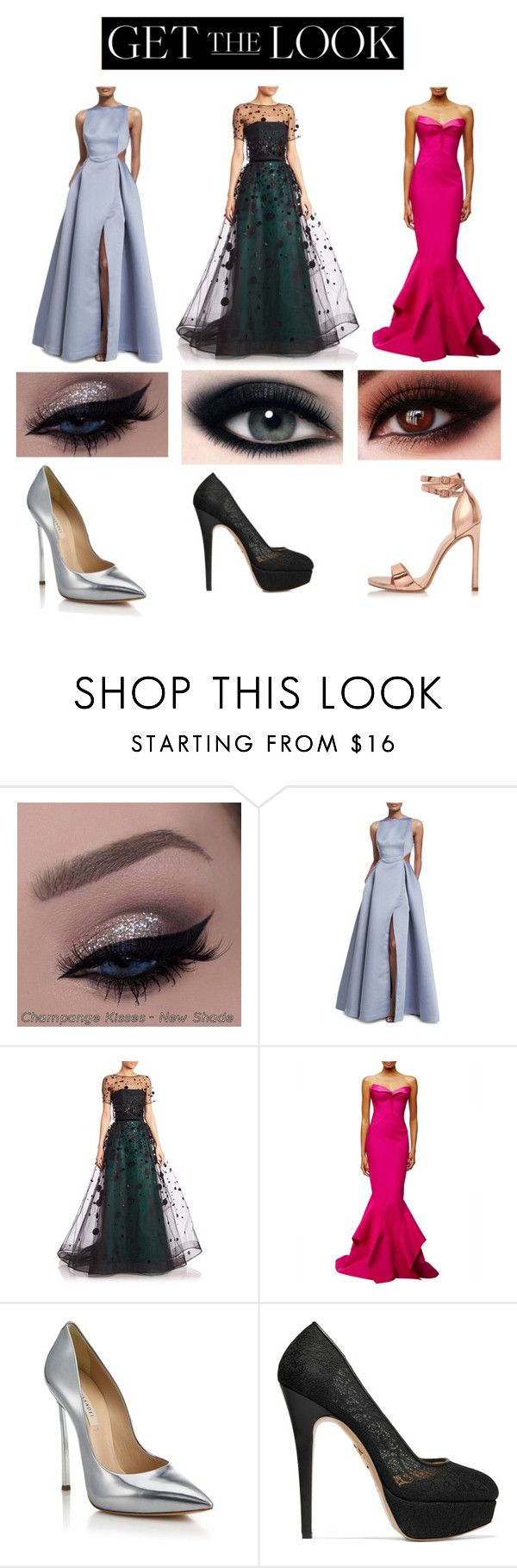"""Get the Look: Met Gala 2016"" by fashion-feed ❤ liked on Polyvore featuring Halston Heritage, Carolina Herrera, Zac Posen, Casadei, Charlotte Olympia, River Island, GetTheLook and MetGala"
