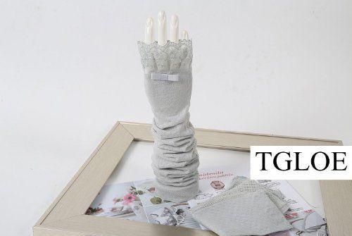 Damen Baumwoll-Handschuhe Sommer fahren verlängern Sonnenschutzmittel UV-Schutz Hülsenstickerei TGLOE, http://www.amazon.de/dp/B00D3CCOMO/ref=cm_sw_r_pi_dp_a5jksb07JV6BT