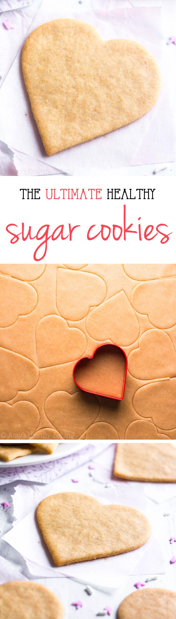 These skinny cookies don't taste healthy at all! They're the BEST -- soft, buttery & so easy! You'll never need another sugar cookie recipe again!