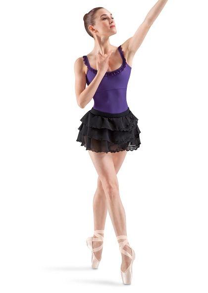 Mirella Guipure Trim Front Side Split Skirt