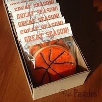 @Tobey- i can see you doing this for the boys!  Posh Pastries: Basketball team snacks