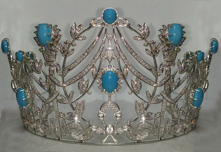 22.15 Ct Natural Diamond Turquoise Sterling Silver Antique Reproduction Tiara Crown The Tiara and Crown on sale is designed & conceptualized from Old Victorian Style & New Contemporary lifestyle. Real natural rose cut uncut diamond studded with color clarity of Tinted Brown / I2-I3 The total no of diamonds in this Tiara are 9.5 CT It is made in 925 Sterling Silver . The article comes with stamp / hallmark of purity of its value. Our tiaras are often studded with Turquiose or other precious…