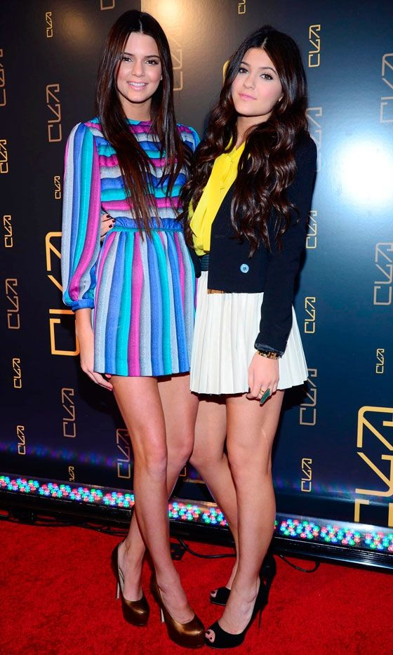 Kendall And Kylie Jenner Show Off Their Enviable Figures In Bright Minis, 2012  love the left one