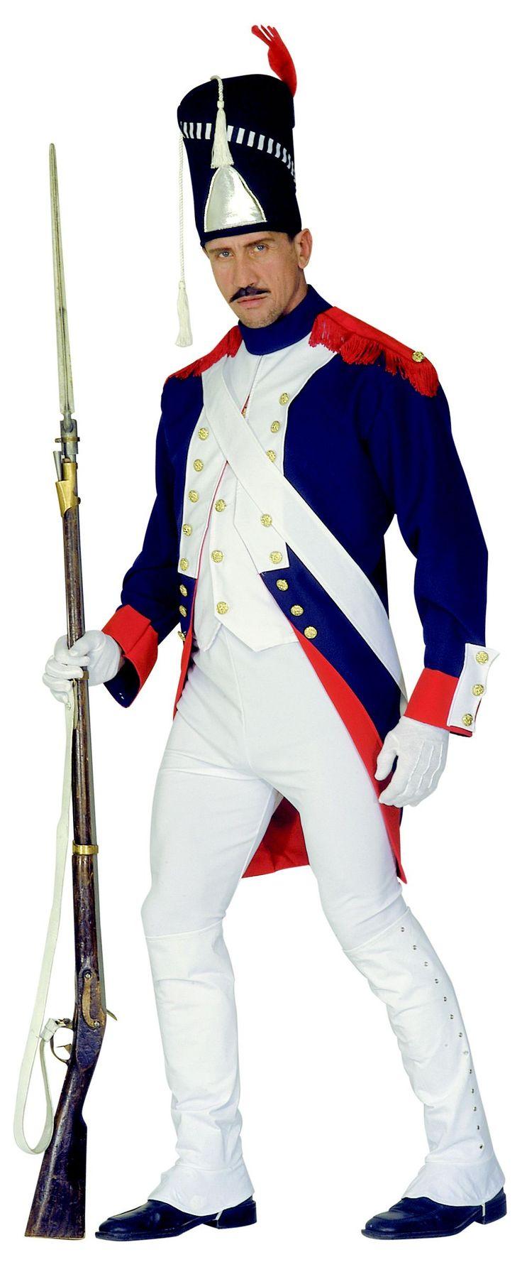 Garde Offizier Kostüm Soldatenkostüm blau-weiß-rot , günstige Faschings  Kostüme bei Karneval Megastore, der größte Karneval und Faschings Kostüm- und Partyartikel Online Shop Europas!