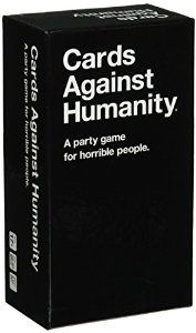 Cards Against Humanity Unlike most of the party games you've played before, Cards Against Humanity is as despicable and awkward as you and your friends.   The game is simple. Each round, one player asks a question from a Black Card, and everyone else answers with their funniest White Card. #amazon #play #game