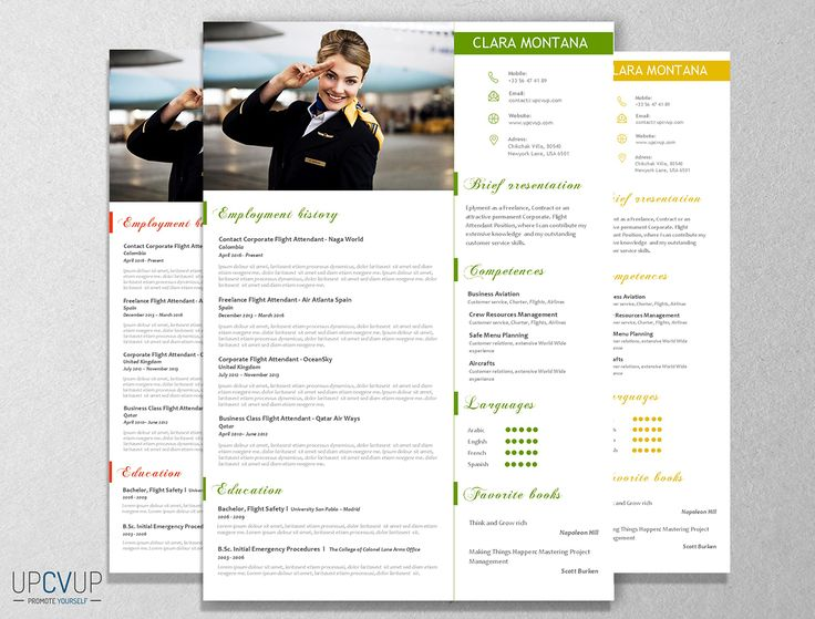 9 best images about cabin crew    flight attendant r u00e9sum u00e9 templates - cv word