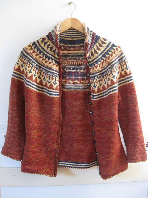 sanguine gryphon. organje cardigan beautiful stranded colorwork