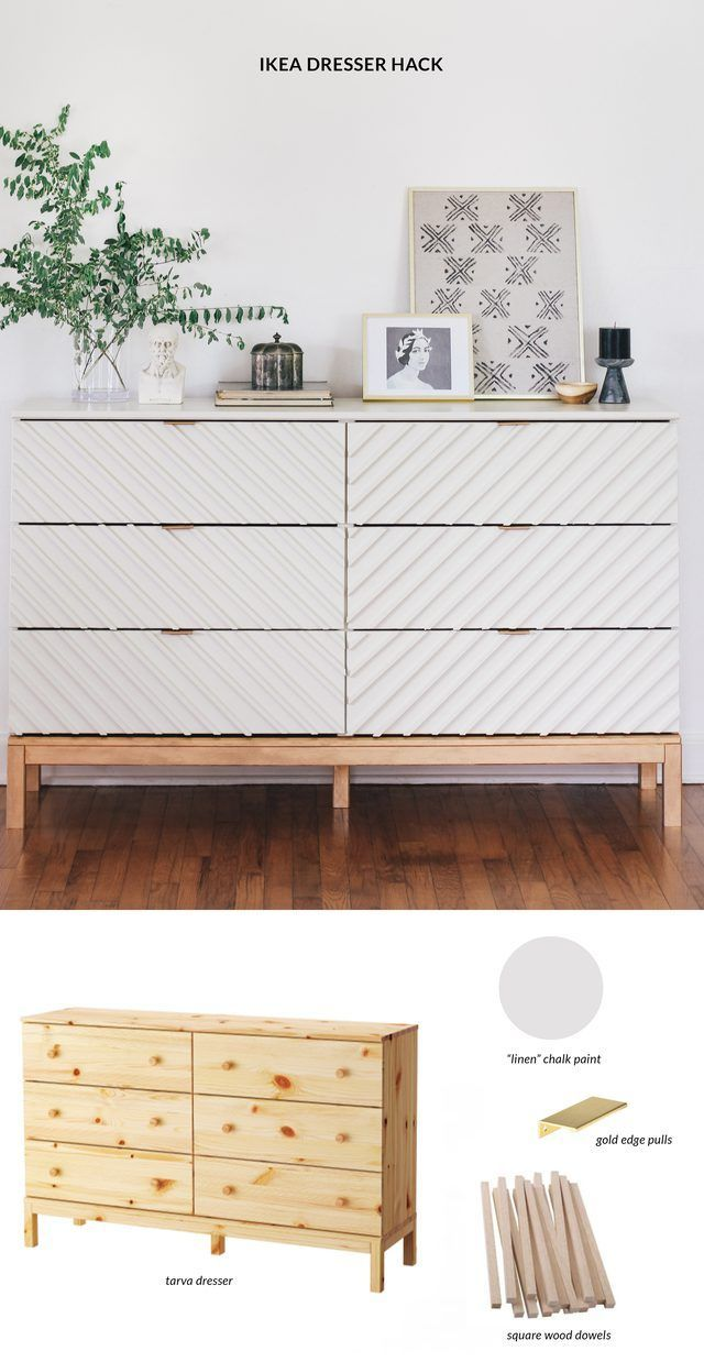 Turn a modest IKEA dresser into a beautiful bedroom piece