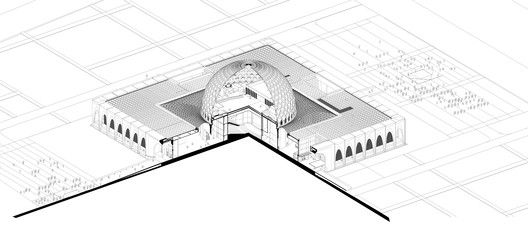 Da Chang Muslim Cultural Center,Axonometric drawing
