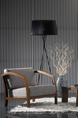 Velda Modern Accent Chair - Brown/Grey