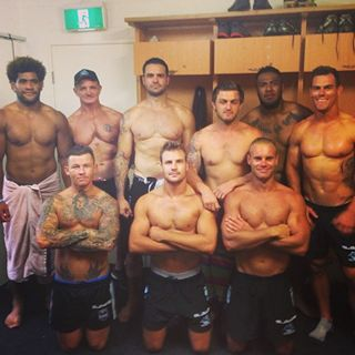 some of this years players in my beloved Cronulla Sharks Footy team.. Australian Rugby League definitely has the hottest men...