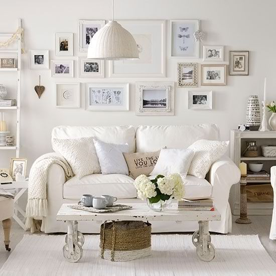 example of a white room that looks cosy because of all the textures and soft neutrals