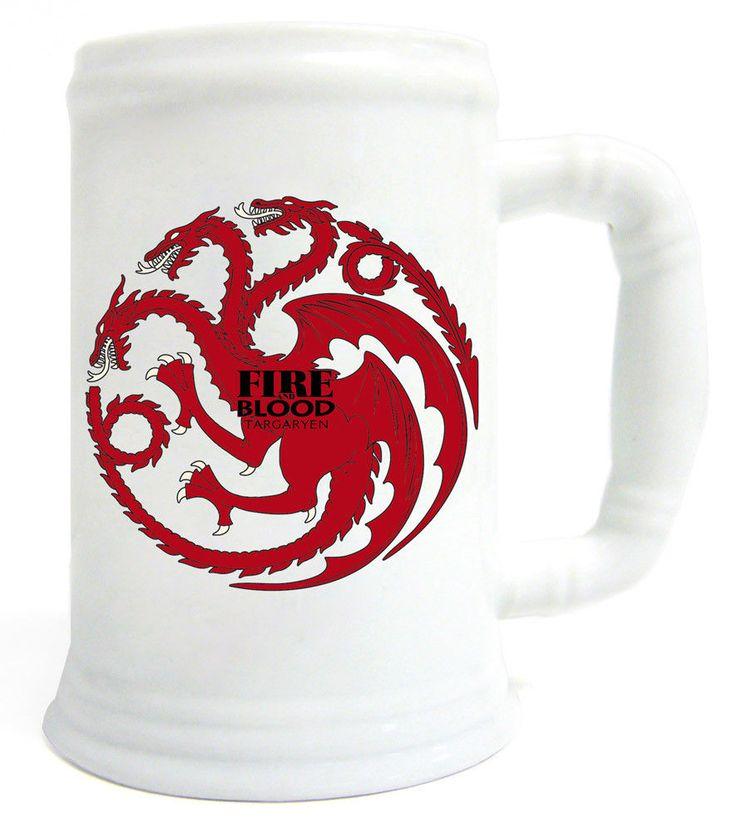 Game of Thrones Bierkrug / Krug Daenerys Targaryen Drache - Fire and blood