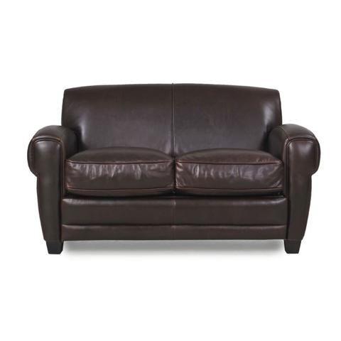 Cleon Leather Apartment Size Sofa BROWN - Apt2B - 1 ...