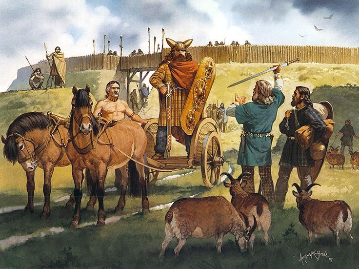 """""""Gallic refugees in Britain, middle of 1st century BC"""", Angus McBride"""