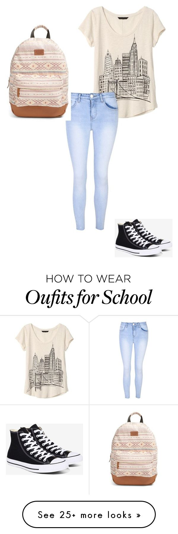 """Back to school"" by explorer-14670533066 on Polyvore featuring Banana Republic, Glamorous, Converse and Rip Curl"