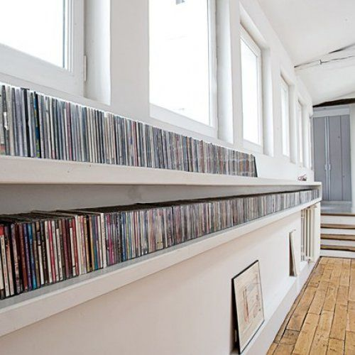 Long cd storage. Will appear in my future house, the way I buy CDs these days...