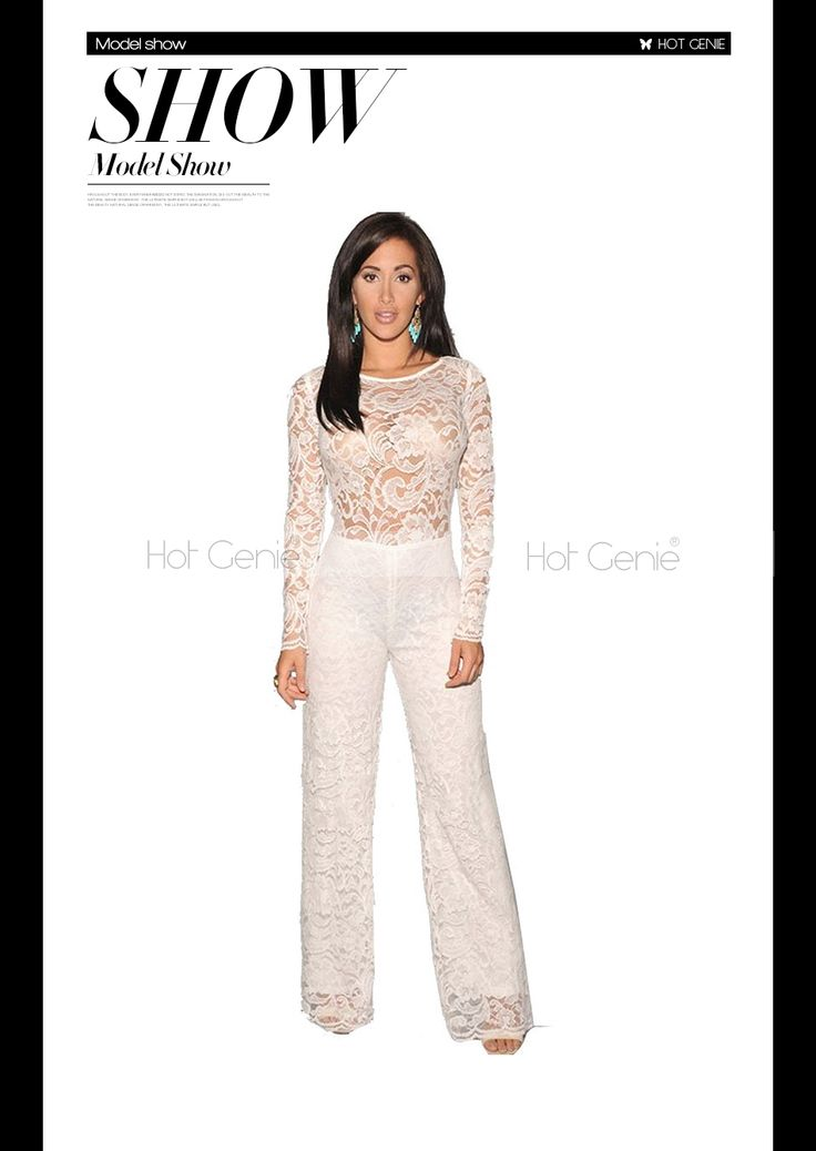 Aliexpress.com : Buy 2015 Fashion Combinaison Costume White Long Sleeve Jumpsuit Overalls For Women Lace Cut Out Clothing from Reliable jumpsuit women suppliers on Hot Genie Authentic Brand Shop | Alibaba Group