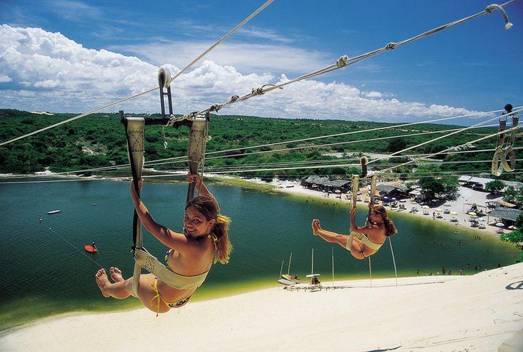 Tirolesa da Lagoa Jacumã - Extremoz – RN