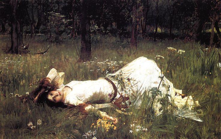 JWW Ophelia 1889 - John William Waterhouse - Wikipedia