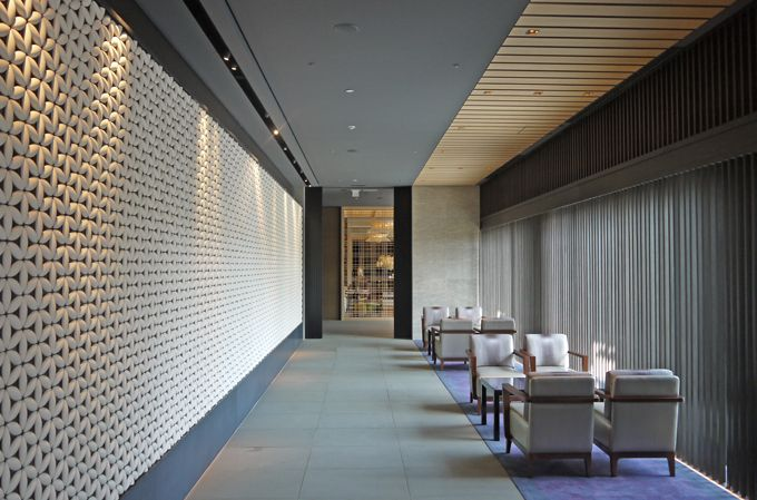 Product: FlowerCircle by: Kenzan clay impression Location: The Ritz Carlton, Kyoto