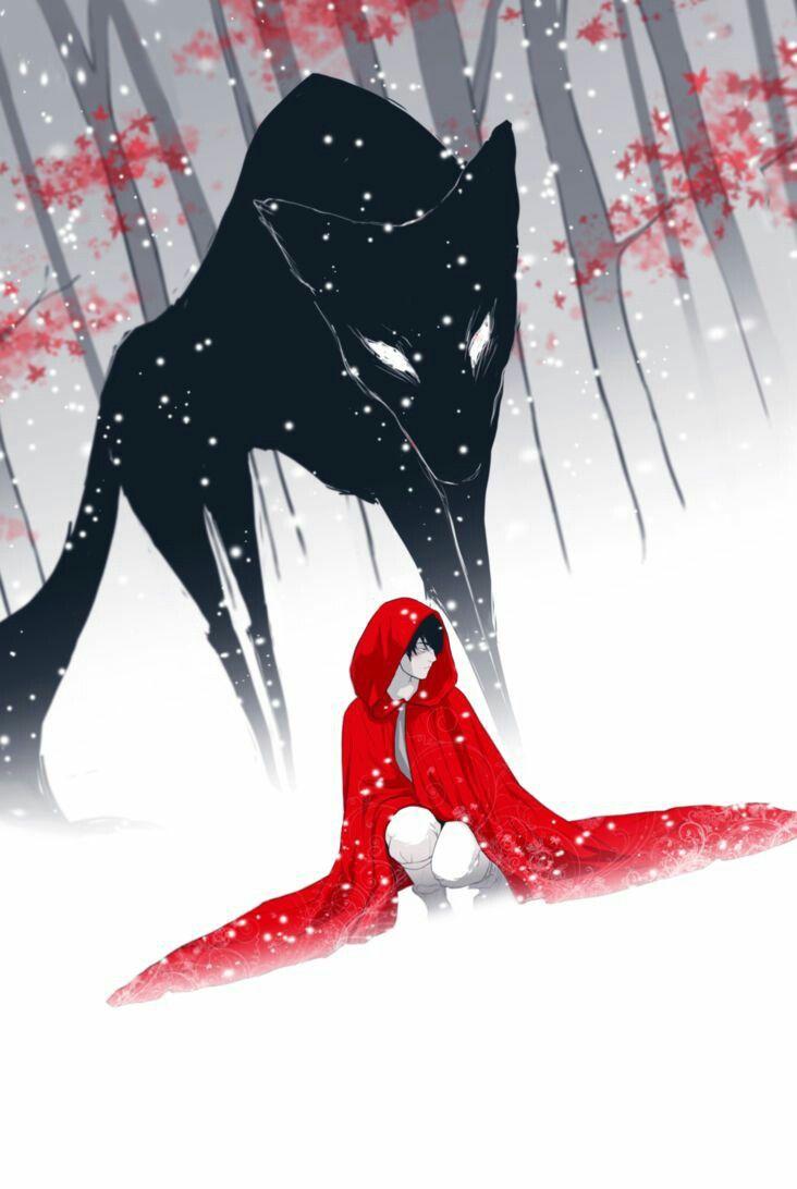 Ilustracion, caperucita roja, dibujo tumblr, drawing, red