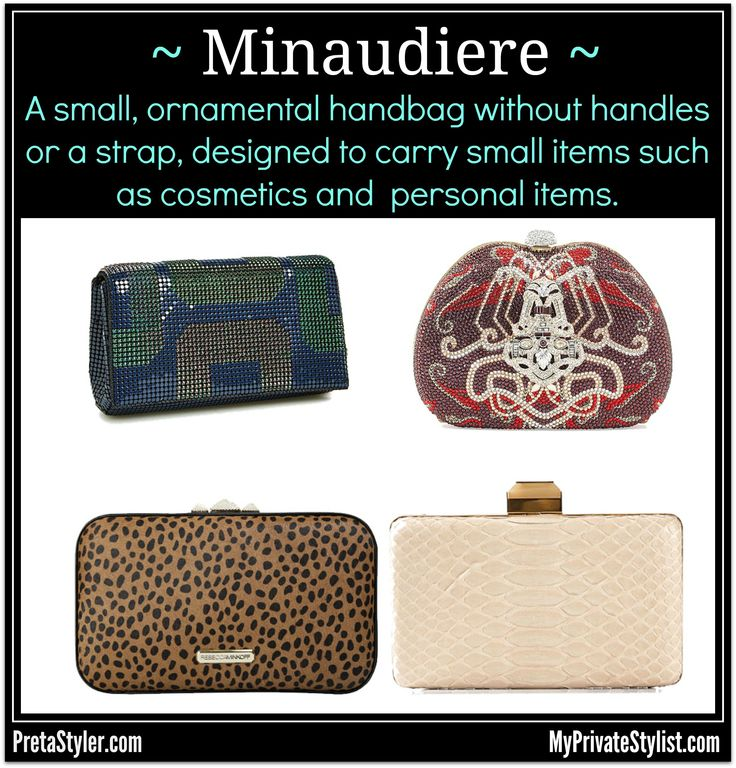 FASHION SPEAK: Minaudiere For how to pronounce it click http://bit.ly/1n5lAe7