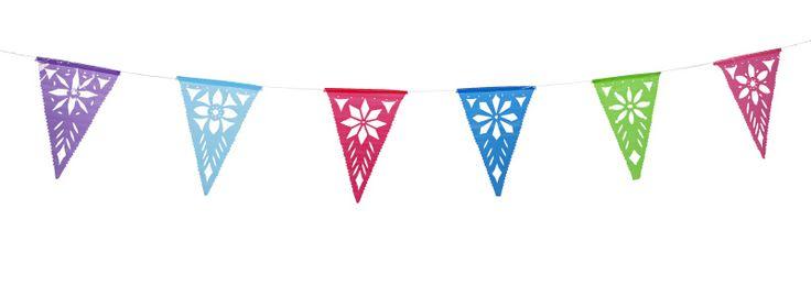 Fiësta Forever met deze vlaggenlijn in vrolijke kleuren. Hiermee tover je elke tuin en elk huis in een mum van tijd om tot een tropische feestlocatie!