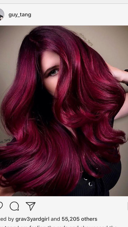 #guytang blazing red hair