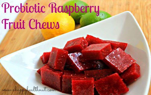 Probiotic Raspberry Fruit Chews — Improved Aging