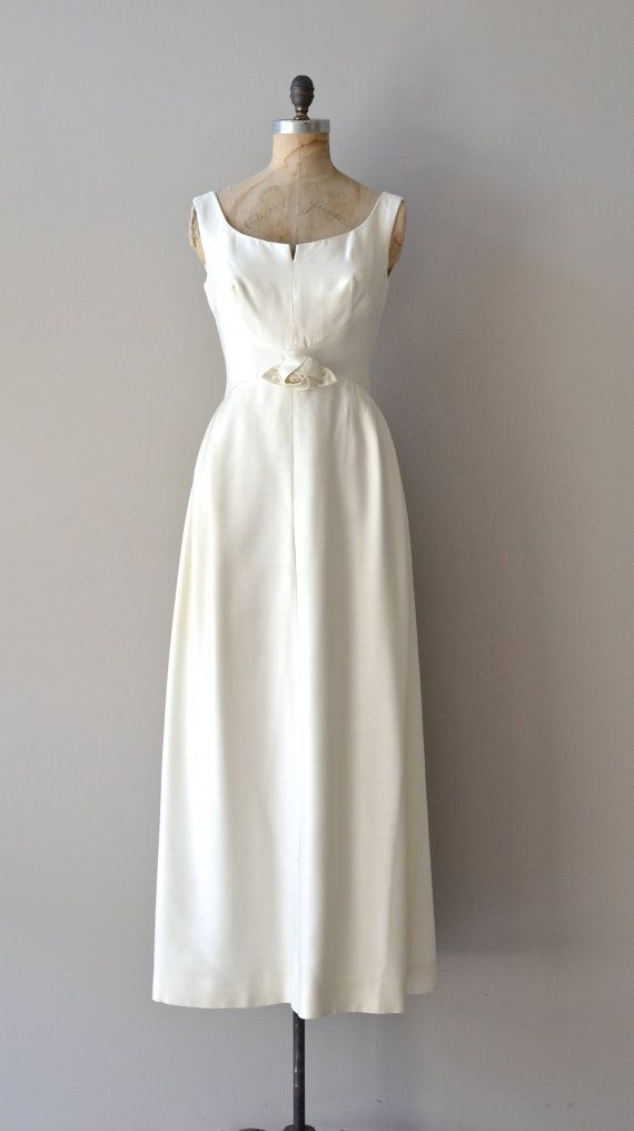 vintage 1960s dress | Clair de Lune wedding dress