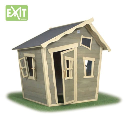 Pieni leikkimökki perheen pienille lapsille - Exit Crooky 100  #pihaideat #leikkimökit #pihaleikit #leikkimökki